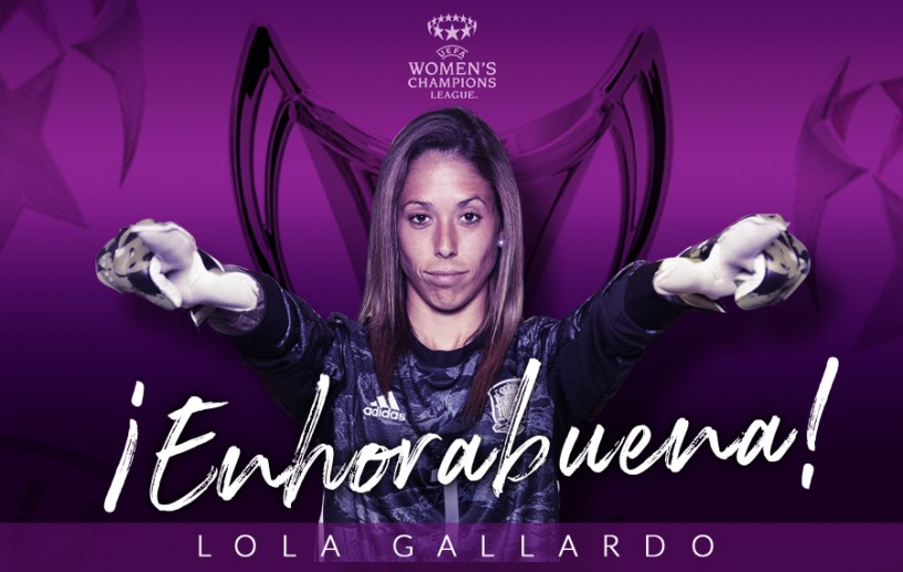 Lola Gallardo, flamante campeona de la UEFA Women's Champions League